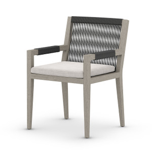 Silhouette Teak Outdoor Dining Armchair