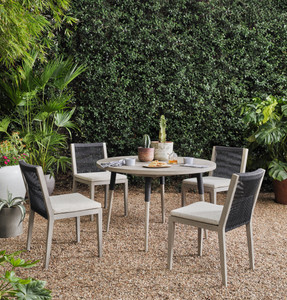 Silhouette Teak Outdoor Round Dining Table