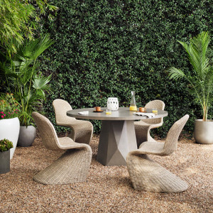 Laguna Concrete Outdoor Round Dining Table
