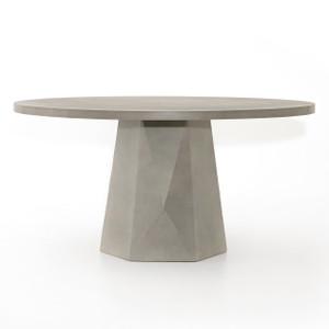 Laguna Concrete Outdoor Round Dining Table