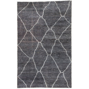 Charcoal Diamond Area Rug