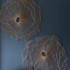 Poppy Flower Dimensional Wall Art Copper