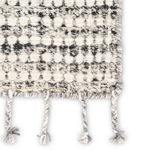 Rori Wool Fringe Rug - grey