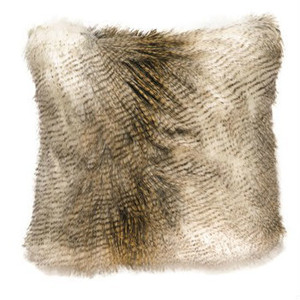 Alaskan Hawk Faux Fur Pillow