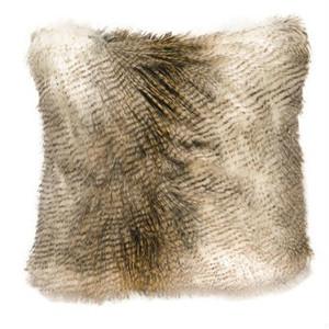 Alaskan Hawk Faux Fur Pillow