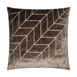 Villa Geometric Throw Pillow - Mocha