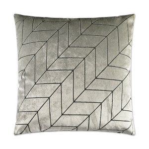 Villa Geometric Throw Pillow - Silver