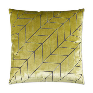 Villa Geometric Throw Pillow - Honeydew