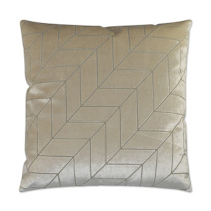 Villa Geometric Throw Pillow - Ivory