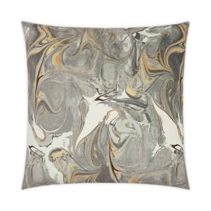 Oil Greystone Throw Pillow