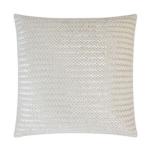 Gene Faux Fur Throw Pillow - Ivory