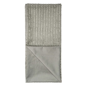 Gene Faux Fur Throw Blanket - Grey