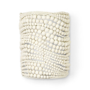Crystal Cove White Bead Sconce