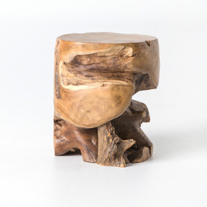 Alonso Organic Outdoor Teak Stool Table