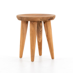 Zuri Round Teak Outdoor Stool Table