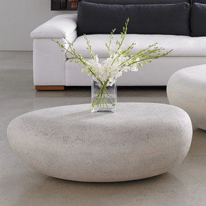 River Stone Oval Outdoor Coffee Table