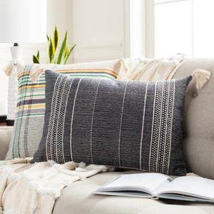 Dashing Hand Embroidered Tassel Pillow