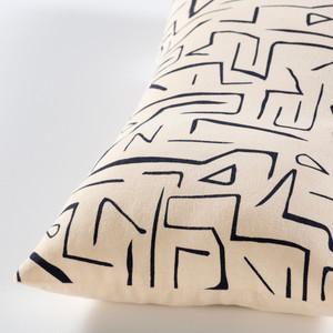 Graffiti Cream & Black Lumbar Pillow