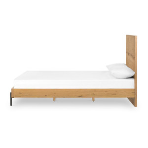 Iris Bed-Light Oak - Queen size bed