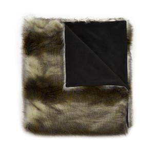 Alaskan Hawk Faux Fur Throw Blanket
