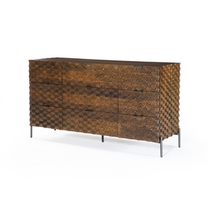 Raffael 9 Drawer Dresser - Antique Brown
