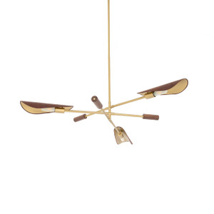Astrid Chandelier - Dark Brown Leather