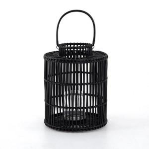 Caraway Large Lantern - Ebony Rattan