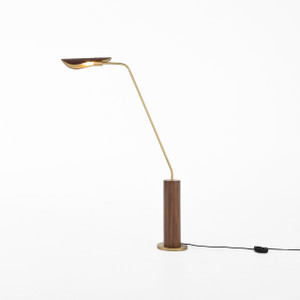 Astrid Floor Lamp-Dark Brown Leather