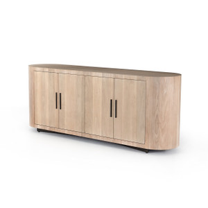 Blanco Curved Sideboard