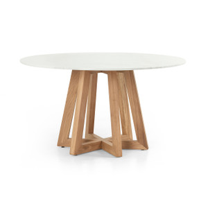 Kerry Dining Table - White Marble