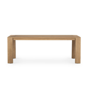 Capra Dining Table - Light Oak Resin