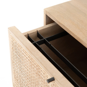 Bondi Cane Filing Cabinet - Natural Wood