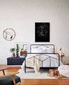 Carly Iron Queen Bed - Black