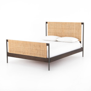Jordan Natural Cane and Iron Bed