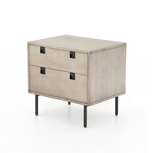 Bryce 2 Drawer Nightstand - Grey Wash