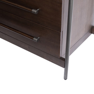 Evy 6 Drawer Dresser - Warm Brown