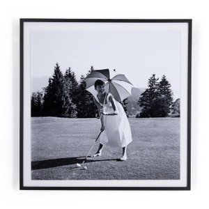 Golfing Hepburn By Getty Images
