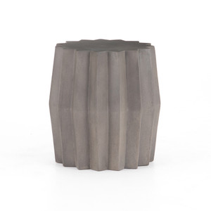 Gem Outdoor End Table-Dark Grey