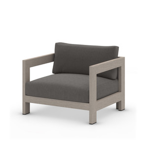 Caro Outdoor Chair, Weathered Grey