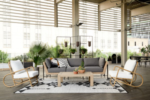 Charlotte Outdoor 3 PC Sectional-Natural