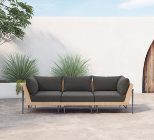 Cavan Outdoor 3 PC Sectional-Natural