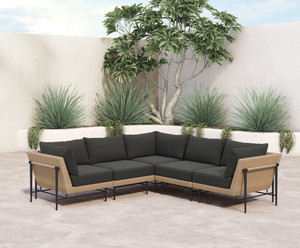 Cavan Outdoor 5 PC Sectional-Natural