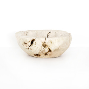 Reclaimed Wood Bowl - Ivory