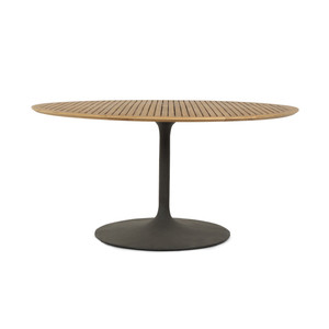 "Leo Outdoor Dining Table-54""-Nat Teak"