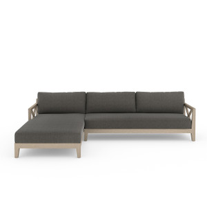 Hermosa 2 Pc Laf Sectional - Brown/ Char