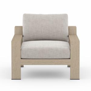 Hope Ranch Teak Outdoor Chair - Brown/Stone Grey