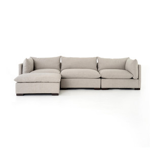 Zoe 3-PC Sectional W/ Ottoman