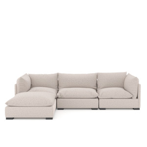 Westwood 3 PC Sectional W/ Ottoman-Bayside Pebble