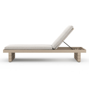 Leroy Outdoor Chaise - Brown/Stone Grey