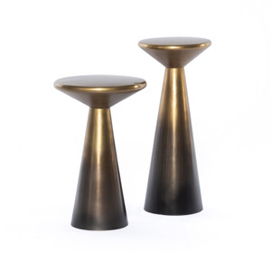 Cape Accent Tables, Set of 2- Brass